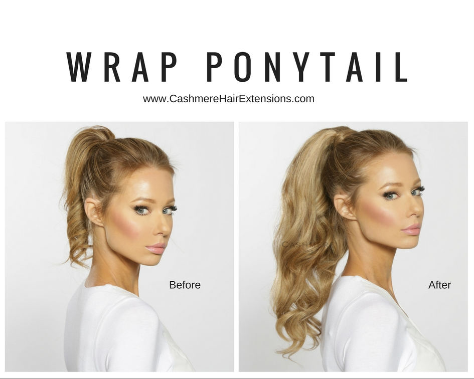 Remy clip in hair extensions before after pictures cashmere clip on wrap ponytail extension pmusecretfo Gallery