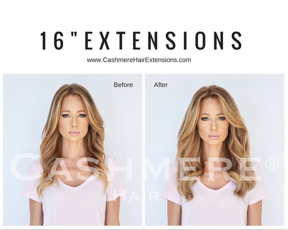 Remy Clip In Hair Extensions Before After Pictures Cashmere Hair