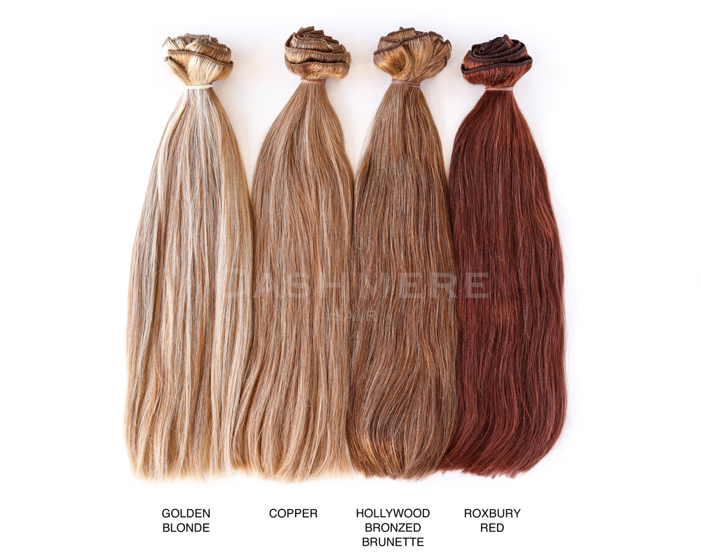 redhead hair extensions color chart