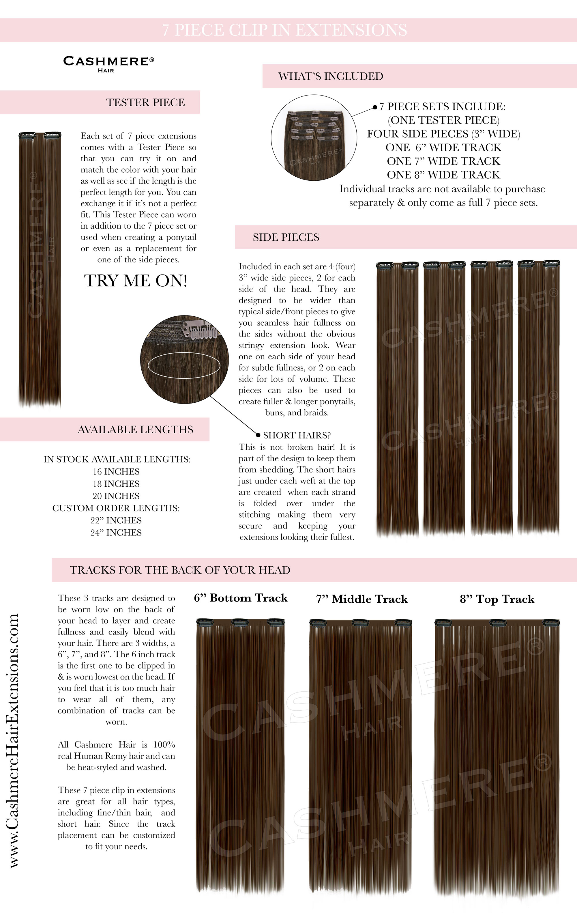 Seven Piece Clip In Hair Extensions Hair Track Designs